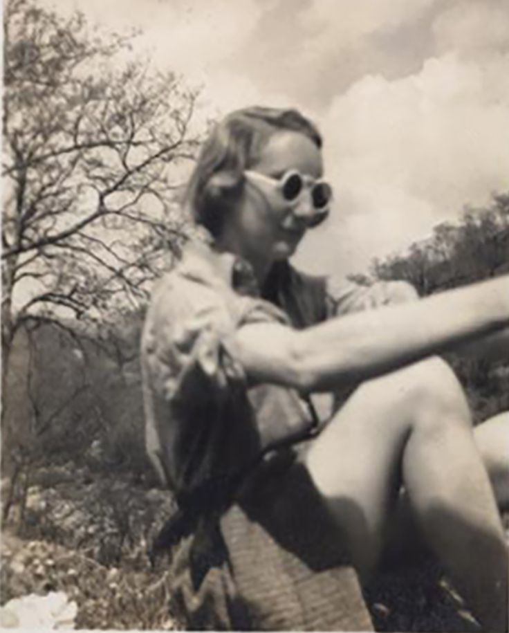 On honeymoon in the Dolomites 1936 with the coolest shades ever