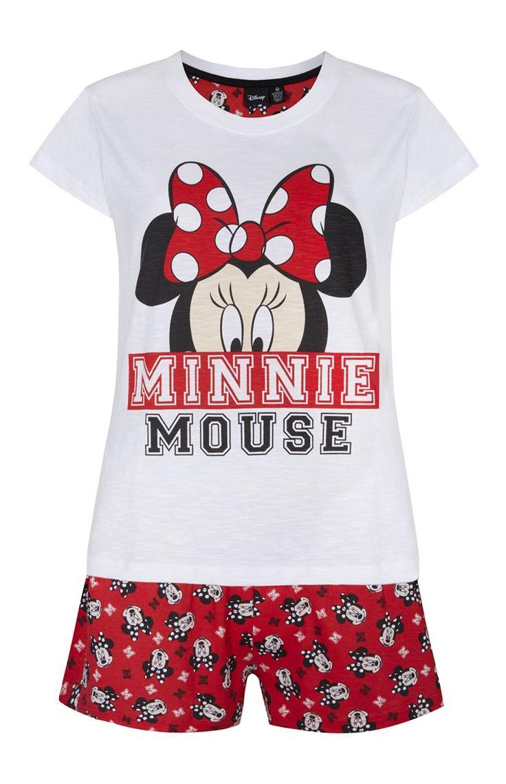 Conjunto calções Minnie Mouse vermelho