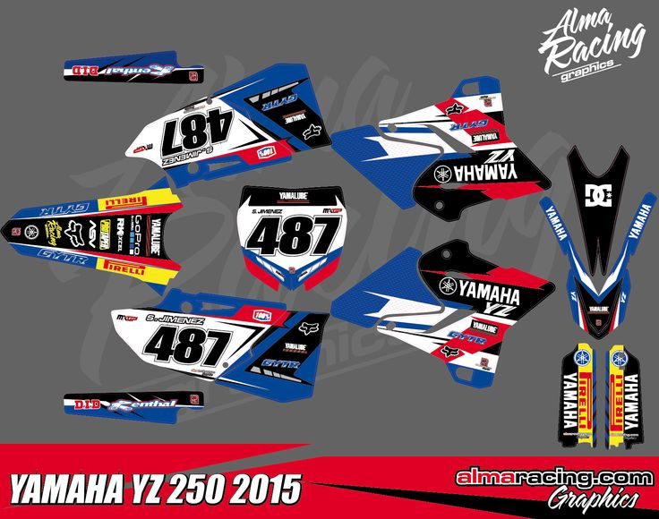 yamaha dirt bike graphics template