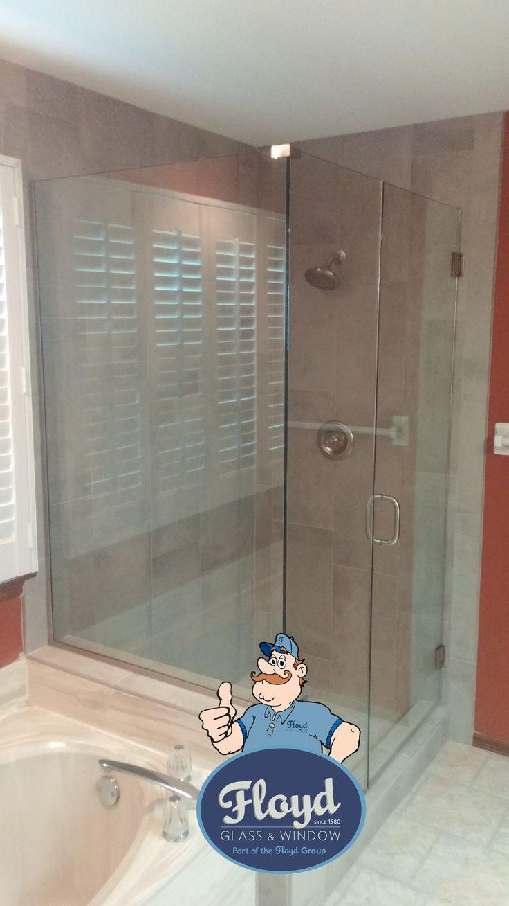 Floyd Custom Shower. U-Channel Frameless Shower