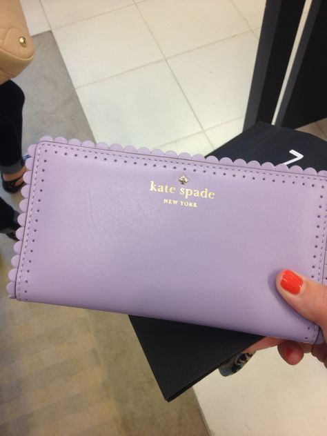 adorable kate spade wallet! I love the little scallops!