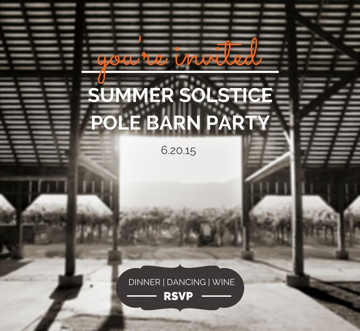 Don't miss out on this year's Summer Solstice Pole Barn Party!