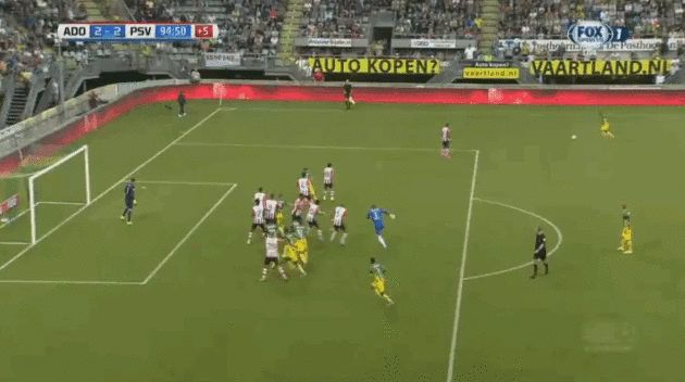 A Danish goalie scored an insane game-tying goal on a flying backheel in the 95th minute. Martin Hansen, the goalie for ADO Den Haag in the Dutch Eredivisie, scored a 95th-minute equalizer on Tuesday to earn his team a 2-2 draw with PSV Eindhoven More Details and Info https://idnbookie.com