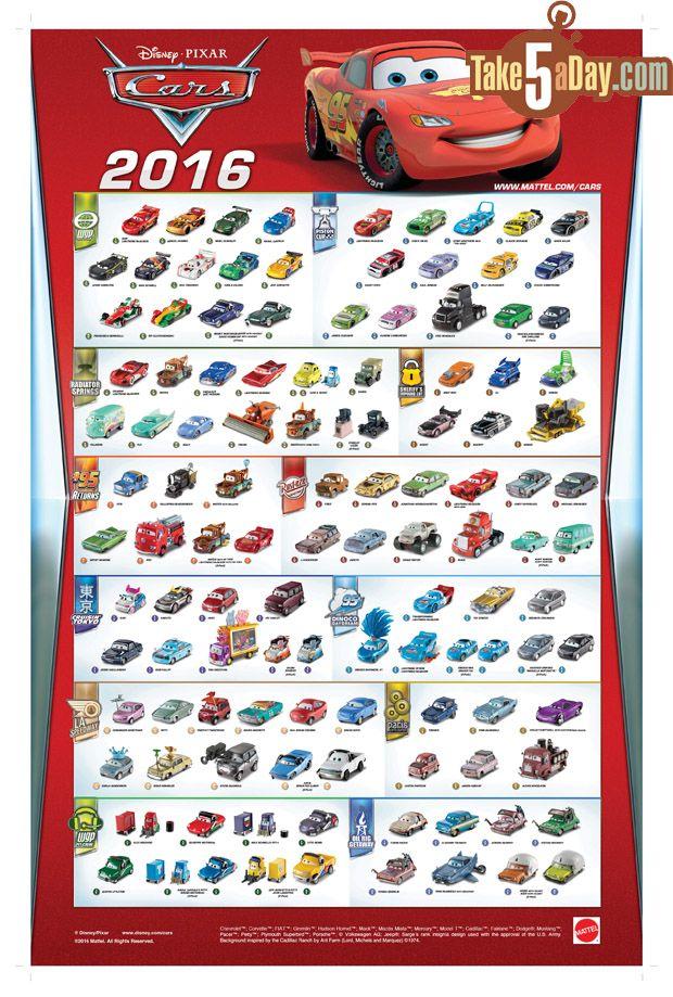 Mattel Disney Pixar 2016 Cars Poster