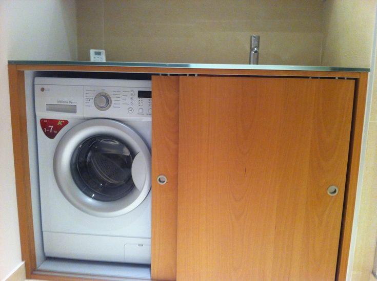 R novation d 39 une salle de bain avec lave linge dans meuble for Meuble pour lave linge