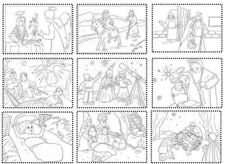 Δραστηριότητες, παιδαγωγικό και εποπτικό υλικό για το Νηπιαγωγείο: Χριστούγεννα στο Νηπιαγωγείο: Κάρτες ακολουθίας για τη γέννηση του Χριστο...