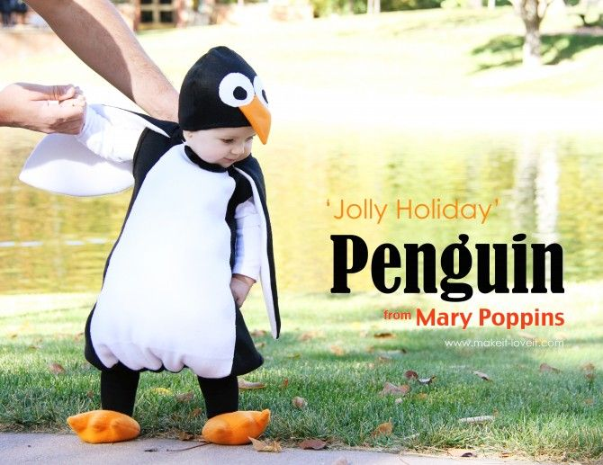 pinguin kostüm nähen