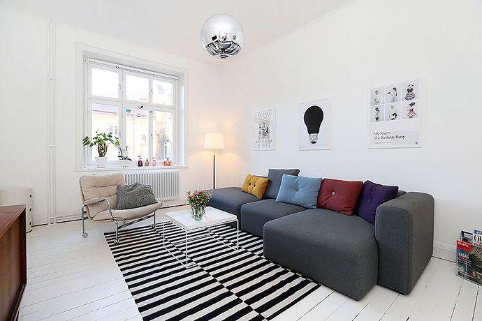 svart vit matta vardagsrum - Sök på Google