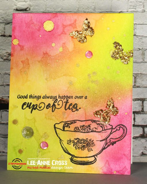 STAMPlorations Mini Release and Spring Coffee Lovers Blog Hop featuring STAMPlorations Always Tea Time