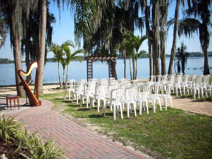 Wedding Ceremony Set Up At Paradise Cove Lake Buena Vista Orlando This Is One Of The Most Por Venues In Central Florida With Its Tropical