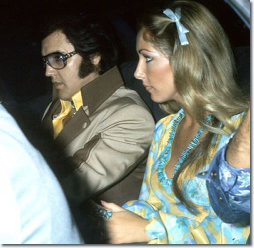 Elvis Presley and Linda Thompson - Charleston West Virginia July 1975