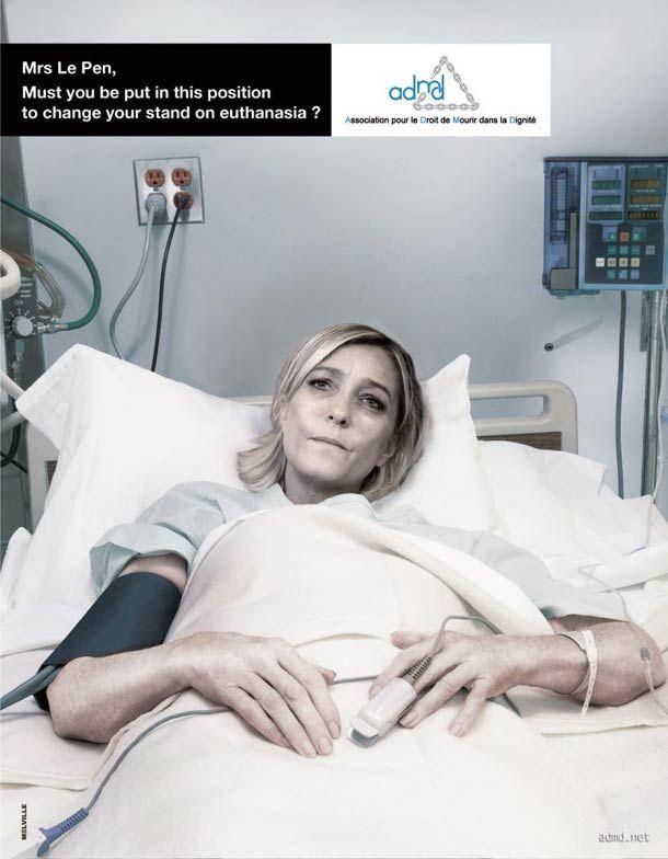 Campagne #ADMD 2012 durant la campagne présidentielle pour demander aux candidats de revoir leur position sur l'#euthanasie 96% des français y sont favorables ! Les politiques français toujours pas!!!!