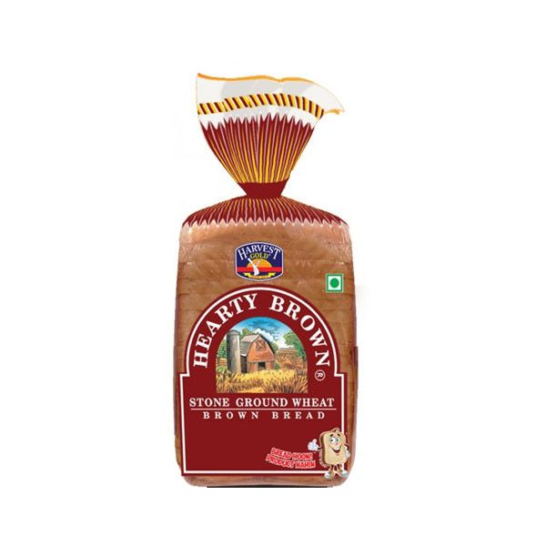 #Delhi #Ghaziabad #Noida Grab the Hrvest Gold Brown Bread with crisp crust made with precise dark center. Nutrition Facts : One slice provides 4g of protein,132 mg of sodium,12g of carbohydrates, 2g of sugars, 2g of fiber and 1g of fat. It is also a good source of magnesium and selenium, providing 23g and 11g, respectively.