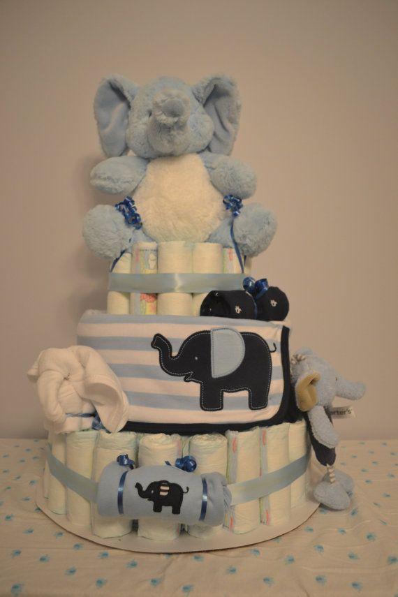 10 Images About Elephant Giraffe Diaper Cake On Pinterest