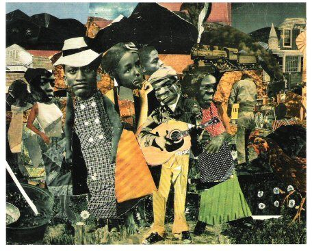Romare Bearden, Watching The Good Train Go By, 1964