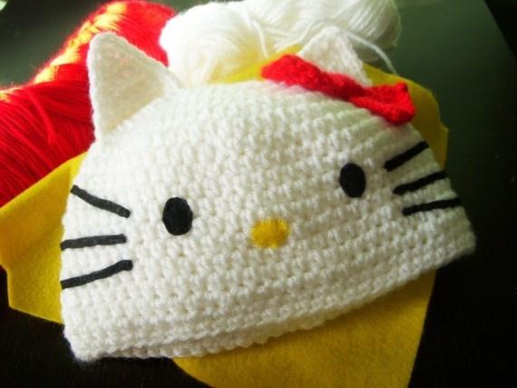 Hello Kitty Crochet Hat- ALL SIZES  @Mk Schuessler