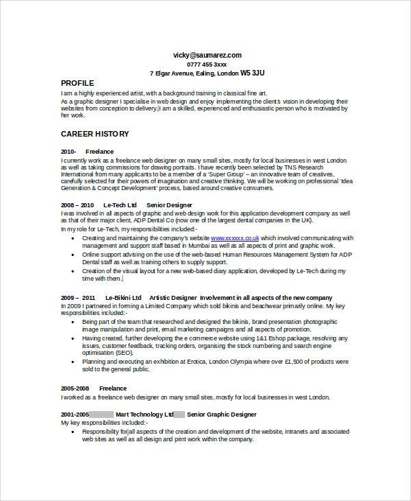 sample graphic designer resume examples word pdf design samples resumes