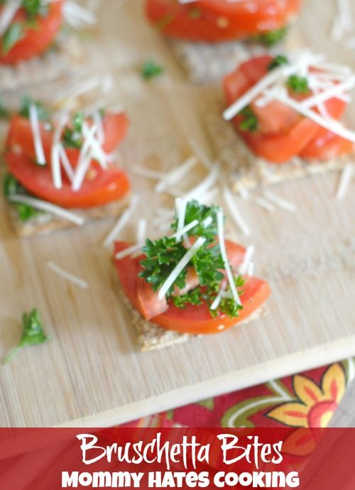 Bruschetta Bites with Triscuit Crackers - Mommy Hates Cooking