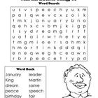 A short word search about Martin Luther King, Jr.Graphics/fonts copyright DJ Inkers. www.djinkers.comMy DJ Inkers license number is 1212179461...