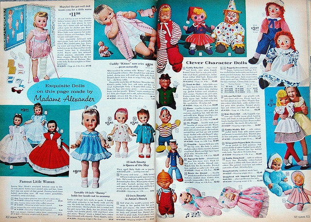 Baby Dolls - 1962 Sears Christmas Book