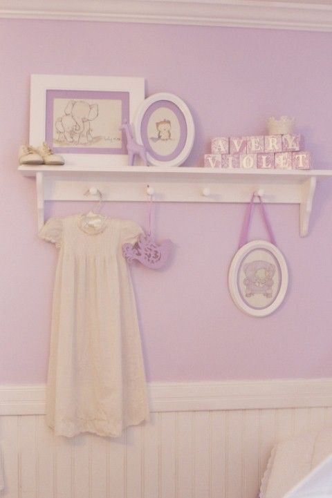 Soft Lavender Baby Nursery With White Accents And Shabby Chic Decor Curtain Pinterest Nurseries