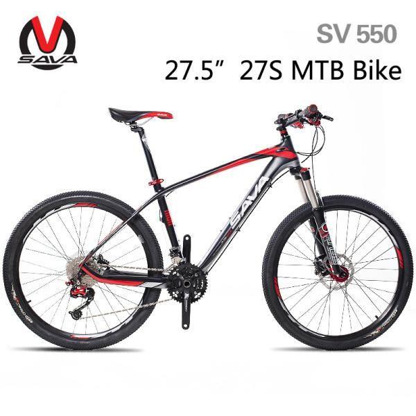 "SAVA 26""/27.5"" Carbon Fiber Frame MTB Mountain Bike-SV750/SV550 27S/30S Bicycle Cycle Bicicleta SHIMANO Hydraulic Brake 3 Colors"