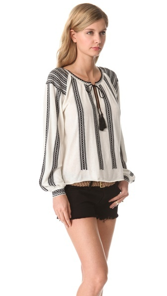 Miriam Embroidered Peasant Blouse 62