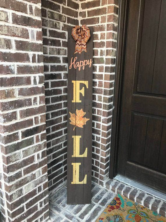 Imaginative Fall Porch Decorating Ideas To Make Yours Unforgettable Fall Decorations Porch Rustic Fall Decor Fall Wood Crafts