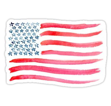 """American Flag Watercolor"" Stickers by missgrumpypants 