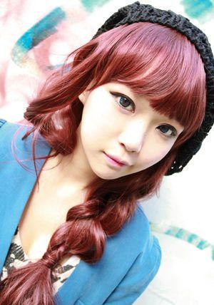 赤髪ロングヘアーのオルチャン|ulzzang blog...kkk : かわいい有名人が赤い髪にしてみたら【画像】 - NAVER まとめ