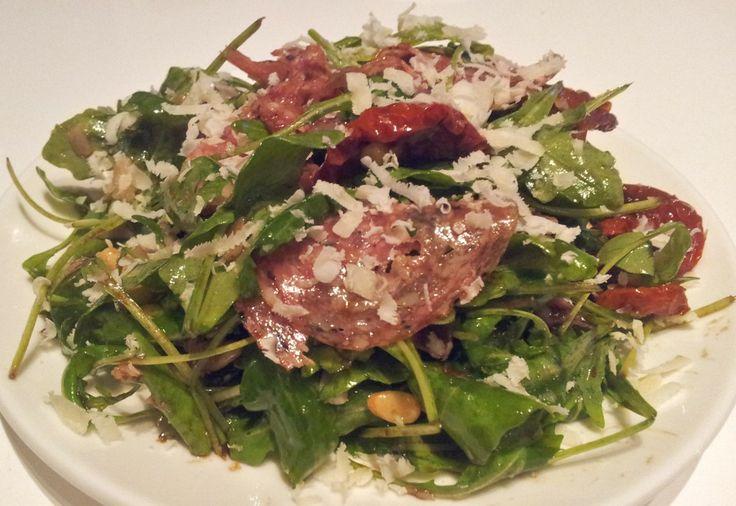 Italiaanse salade met truffelsalami   Het lekkerste recept vind je op AllesOverItaliaansEten