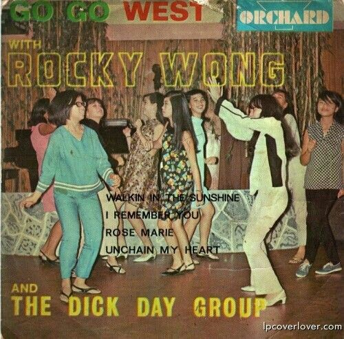 Go Go West with Rocky Wong and the Dick Day Group - vintage record cover