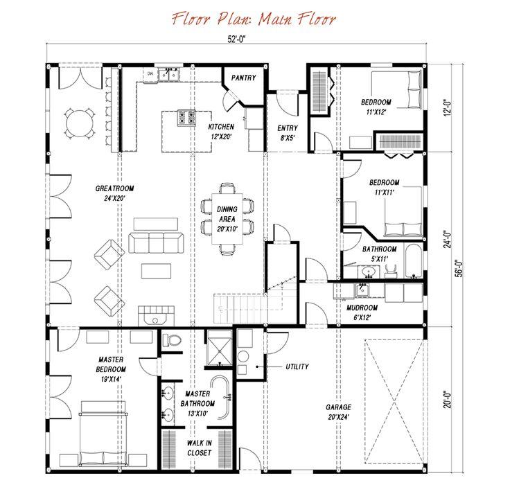 136 best house plans images on pinterest floor plans Gambrel cottage plans