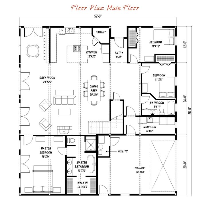 1000 ideas about gambrel on pinterest small barns for Gambrel house floor plans