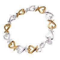 NEW Sterling Silver Hearts n Hearts Bracelet www.tigesgiftstore.com