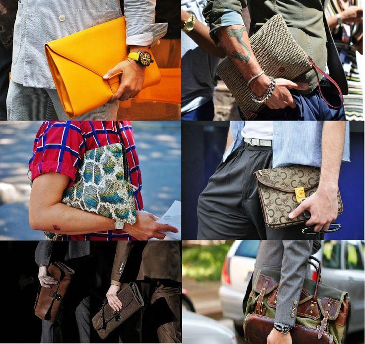 TENDÊNCIA: Clutch Carteiras de mão para homens
