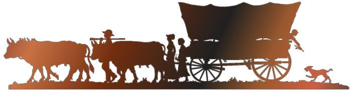 Pioneer Silhouettes Stagecoach Silhouette Metal Wall