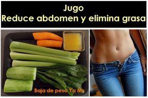 Jugo para reducir abdomen y eliminar grasa