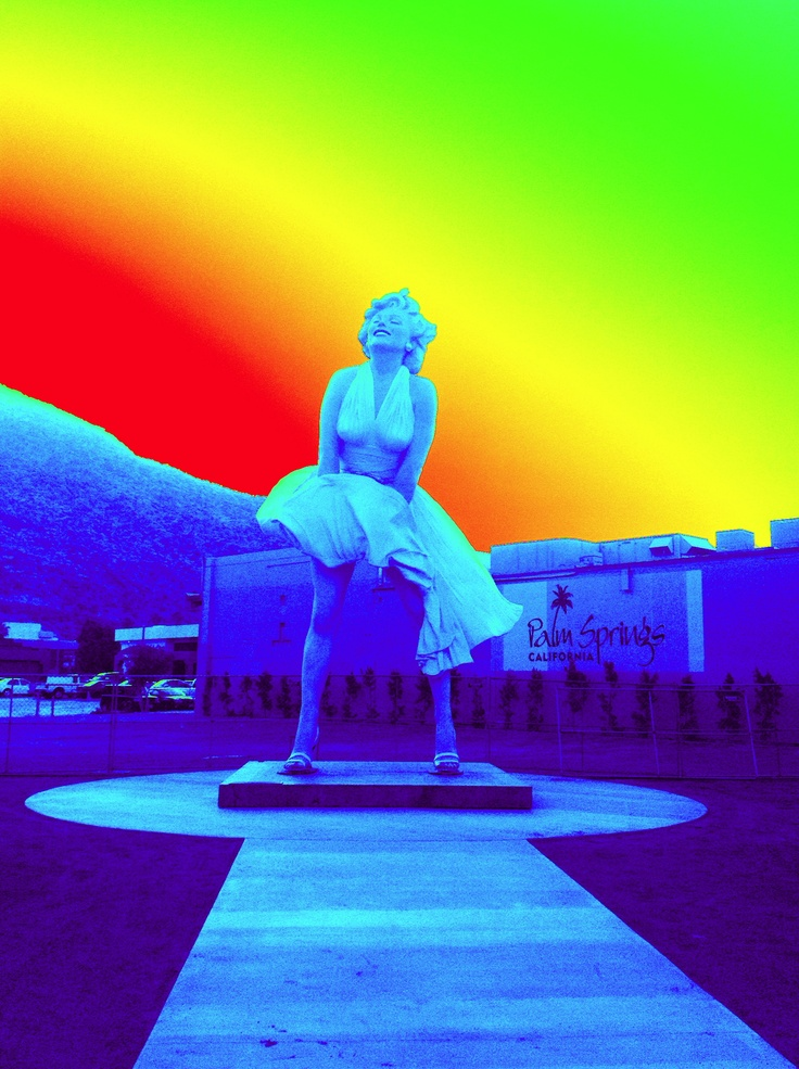 Picture I took of Forever Marilyn which is located in Downtown Palm Springs ...this was take with my iPad