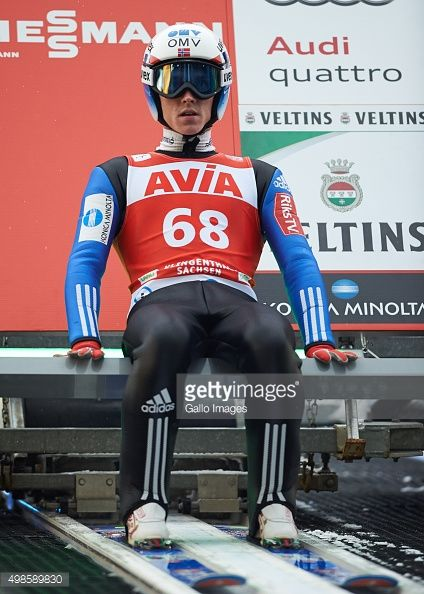 Anders Fannemel of Norway competes in the trial round of FIS Ski Jumping World Cup competition on November 21 2015 in Klingenthal Germany