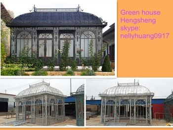 China supplier victorian greenhouse glass garden greenhouse for sale