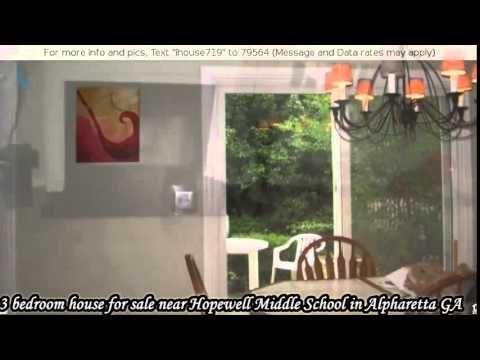 3 bedroom house for sale near Hopewell Middle School in Alpharetta GA - YouTube