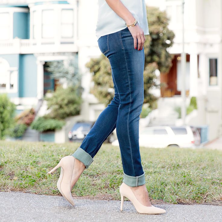 Breathe life into your straight-leg denim with a 2-inch cool-girl cuff. #StylistTip