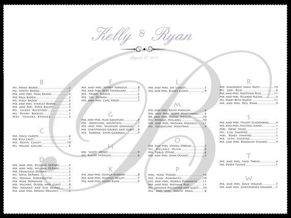 Guest Seating Chart Wedding Bar/Bat Mitvah Sweet By DESIGNEDBYDVB, $50.00