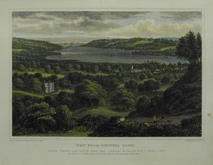 View from Nunwell Down by George Brannon
