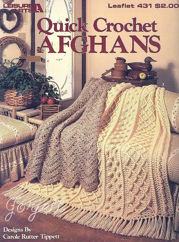 Free Quick Crochet Afghan Patterns | Quick Crochet Afghans Double Strand Crochet Patterns | eBay