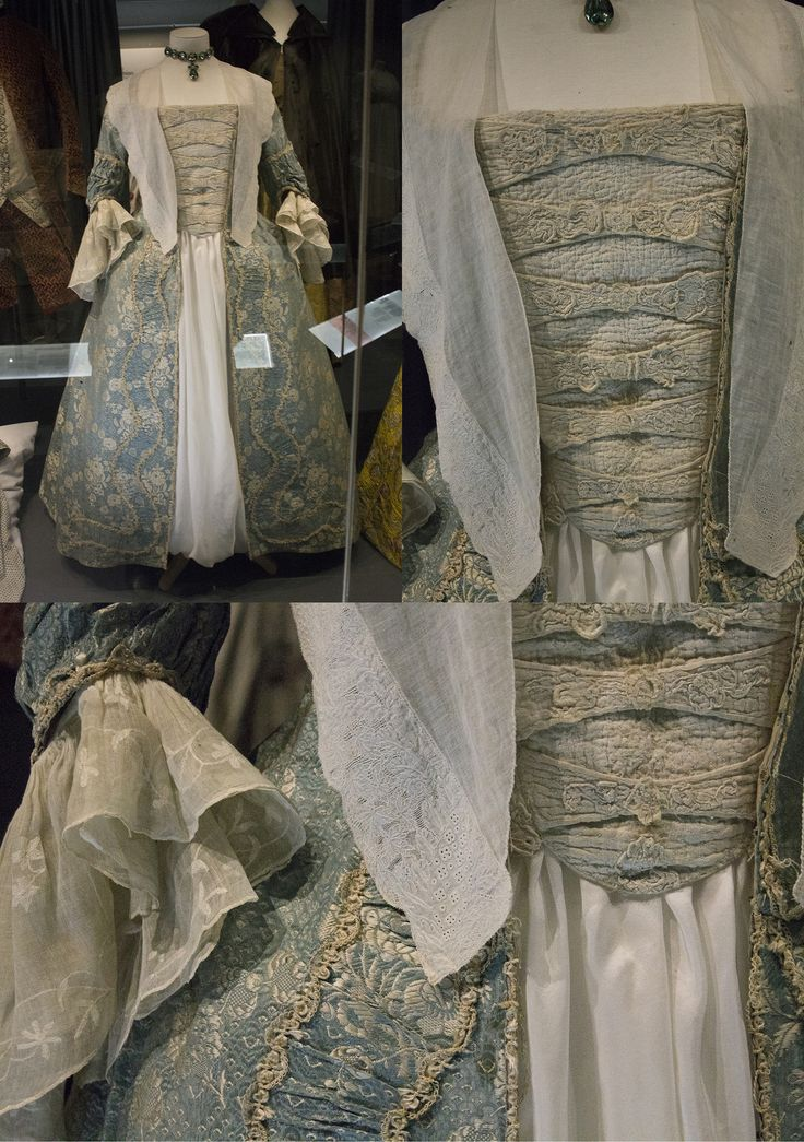 18th century dress with stomacher. Fashion museum Bath