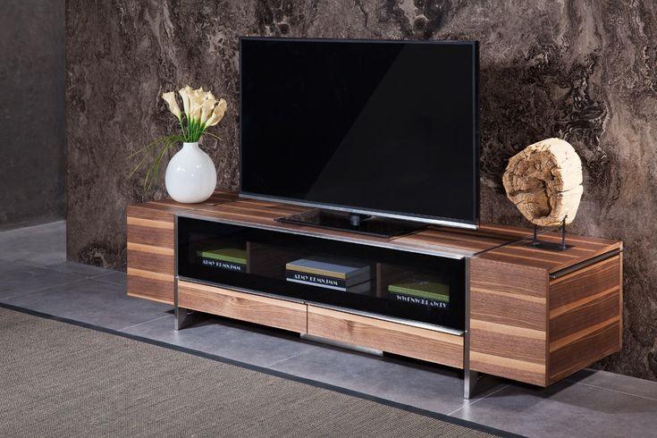 Modrest Lorena Modern Walnut TV Stand - Stylish Design Furniture