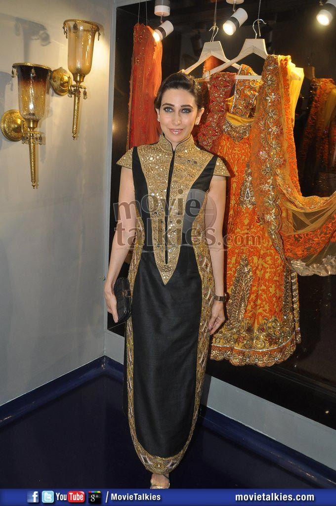 Karishma at http://www.MayyurGirotra.com/ Mumbai store launch #Desi #Fashion