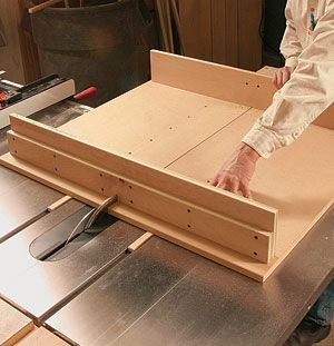 Build A Tablesaw Crosscut Sled Trimming Cabinet Doors And